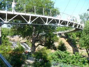 Falls Park bridge